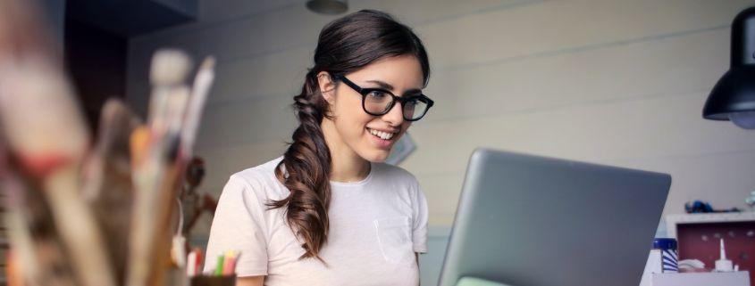 woman working on herself