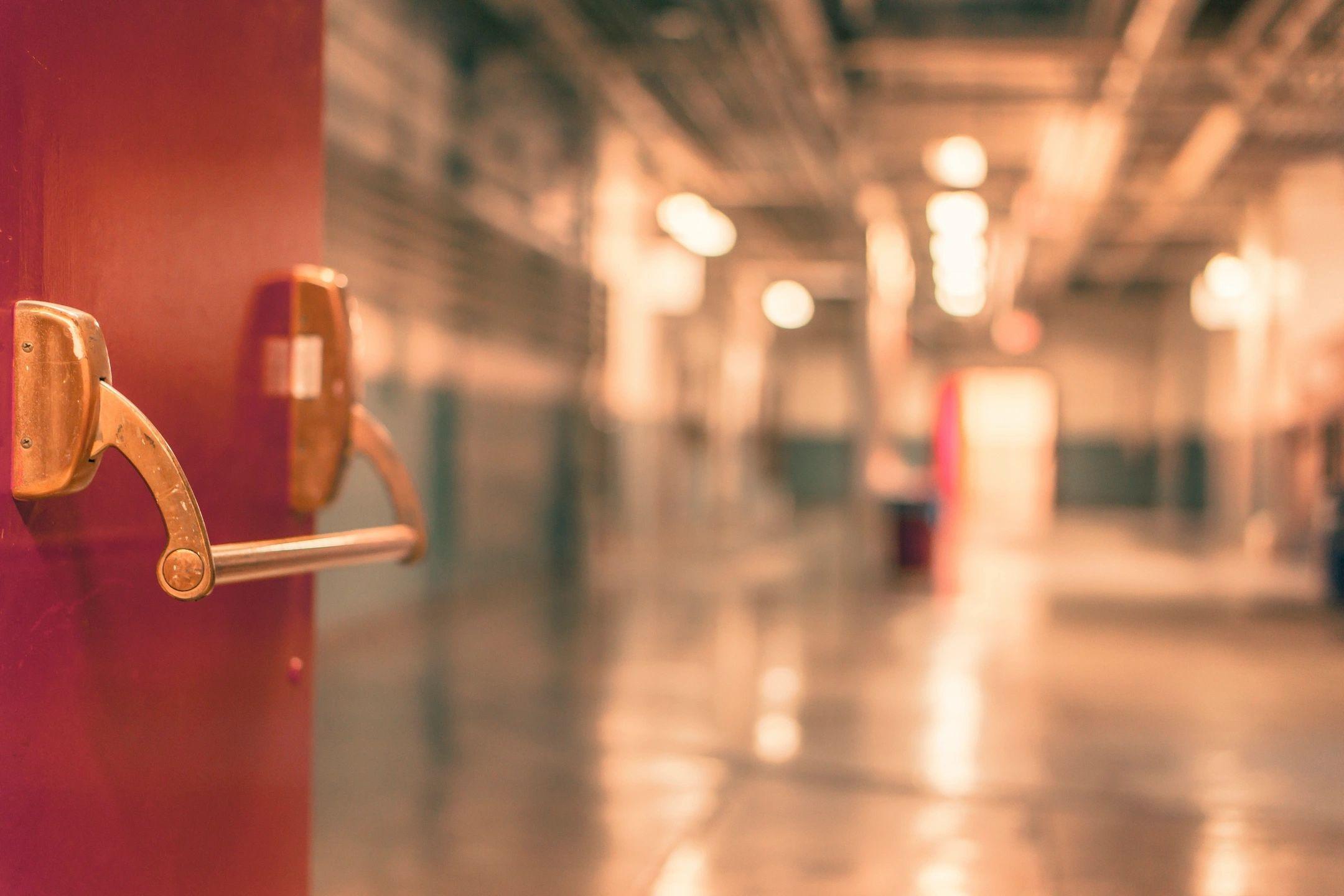 door opening into hallway