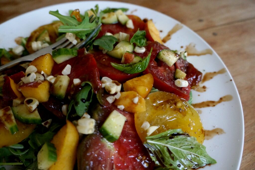 Nectarine Tomato Salad