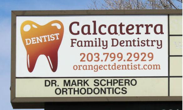 Calcaterra Family Dentistry sign in Orange on Lambert Rd