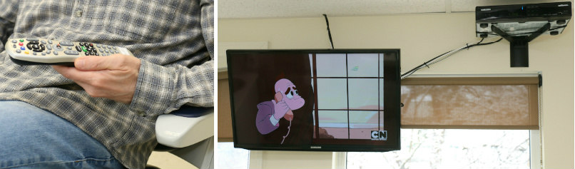 flat screen TVs with cable for dental patients in Orange, CT