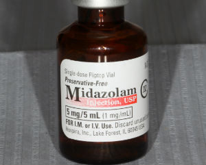 midazolam used for IV sedation in a dentist office