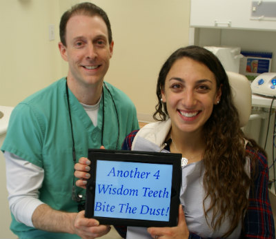 wisdom teeth surgery patient after IV sedation with no pain