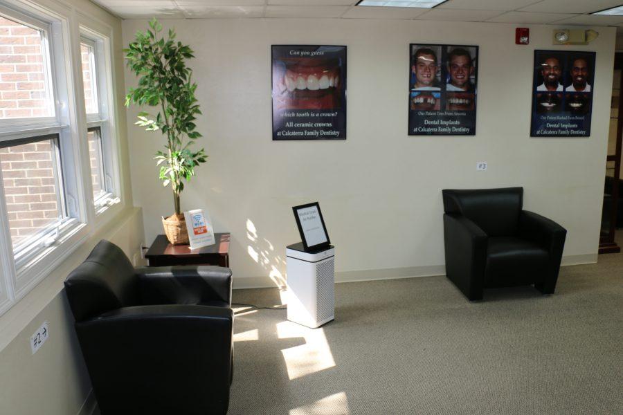 Dentist Reception area designed for social distancing