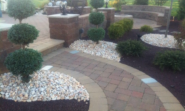 Paver Patio with Walk way marlboro nj