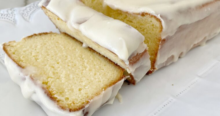 Keto Lemon Pound Cake with Cream Cheese Frosting