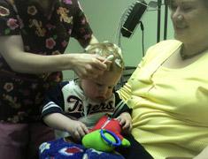Child in a medical faciliy