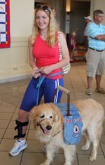 Girl with her service dog