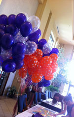 Table with balloons
