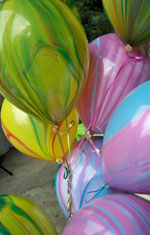 Close up of balloons