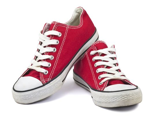 red converse; resoarces shoe drive; angel bins shoe drive