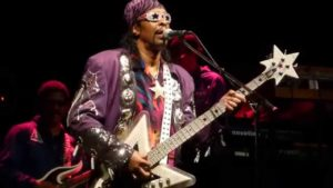 """William Earl the American musician and singer-songwriter better known as """"Bootsy"""" Collins"""