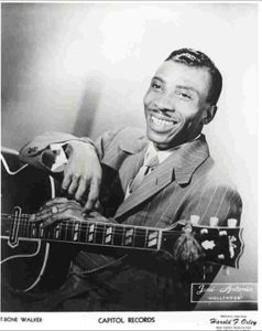 """Aaron Thibeaux """"T-Bone"""" Walker was born on May 28th, 1910 and died on March 16th, 1975."""