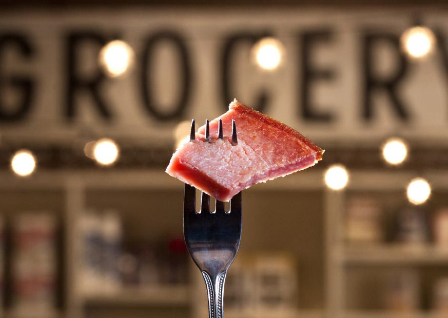 ham on fork