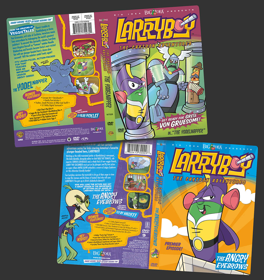 Larryboy Cartoon DVD Covers