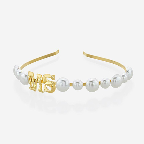 Modern Indian Pearl Jewelry On trend - Accents - NOW Leighton Pearl Headband