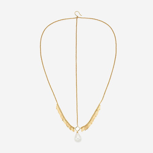 Modern Indian Pearl Jewelry On trend - Accents - Noor Pearl & Gold Maangtikka