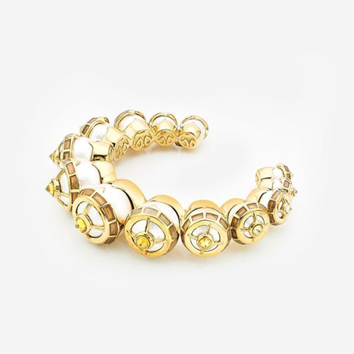 Modern Indian Pearl Jewelry On trend - Bracelets - Empress Warrior Pearl Turret Stackable Cuff