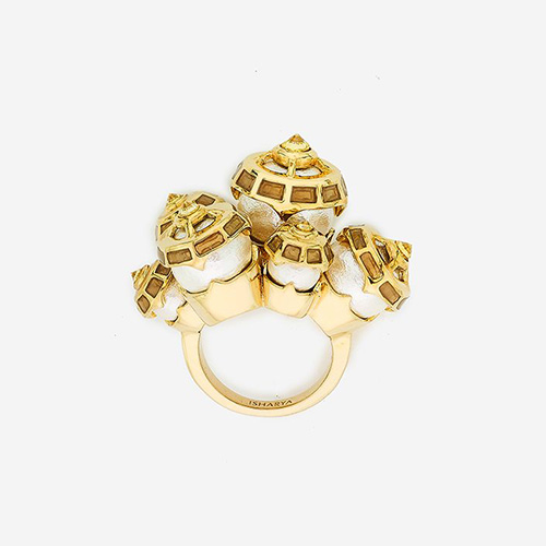 Modern Indian Pearl Jewelry On trend - Rings - Empress Warrior Statement Pearl Ring