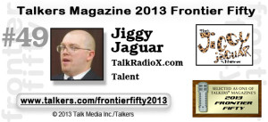 James Lowe Jiggy Jaguar Radio Show Banner from Talkers Magazine.