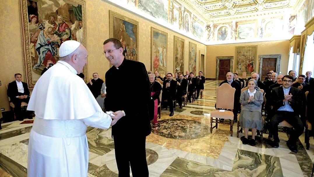 Fr. Ferruccio Brambillasca meets Pope Francis
