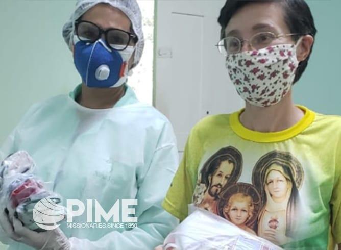 Sister Laura Cantoni  at the Father Ferruccio Colombo Hospital in Amazonas.