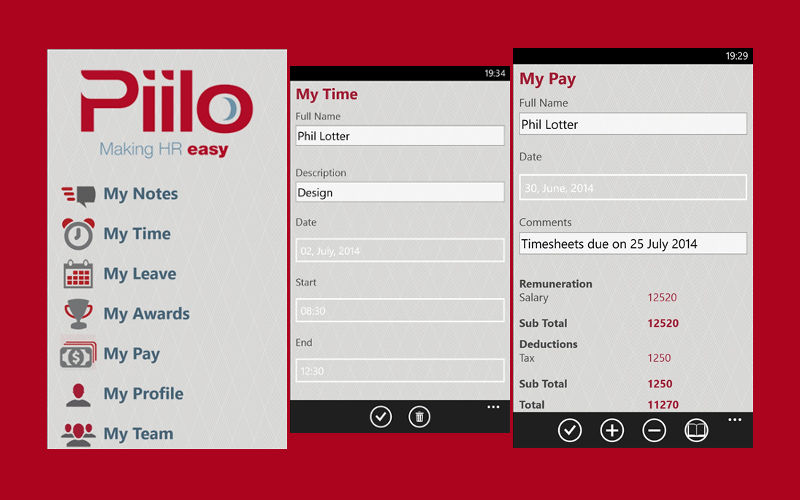 Own a Small Business? Piilo Could Help You Manage Payroll, Time, and More on Windows Phone