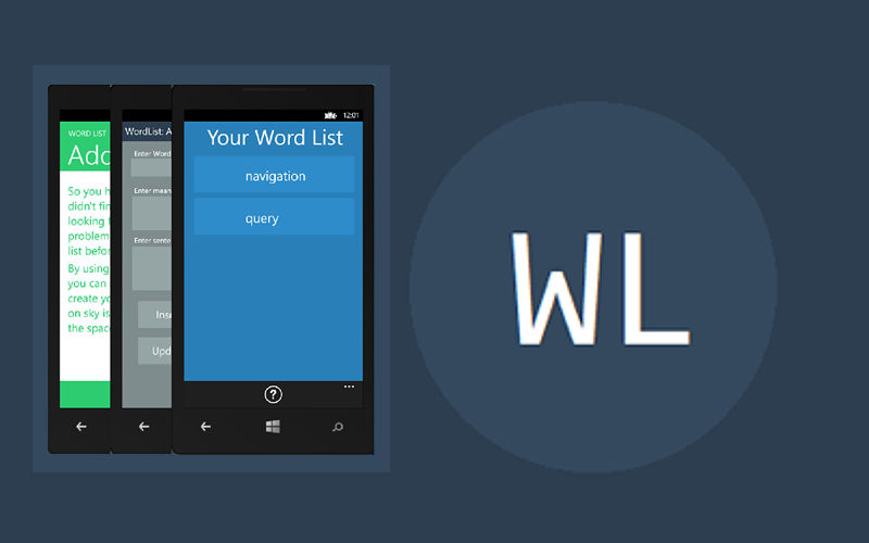 English Education: Word List for Windows Phone seeks to help you increase your vocabulary