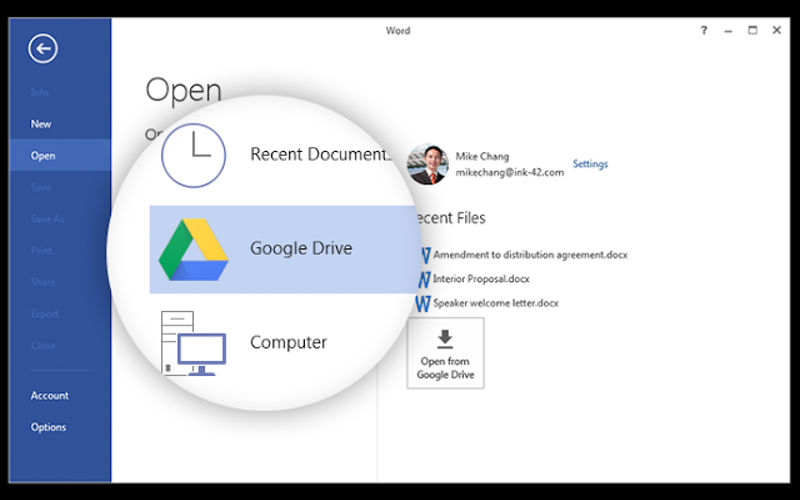Google Drive plugin now available to Office users on Windows, save documents to the cloud
