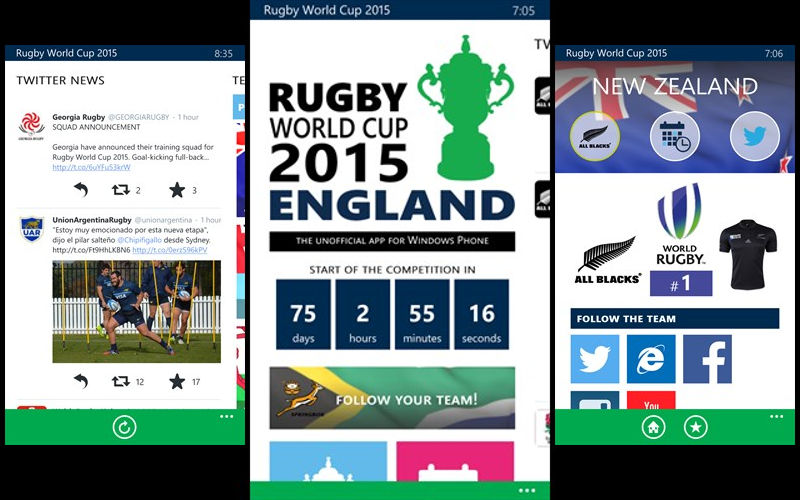 Rugby World Cup for Windows Phone mixes a gorgeous interface with news and information