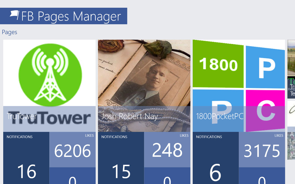 FB Pages Manager is a beautiful, unique app that lets you manage Facebook pages on Windows