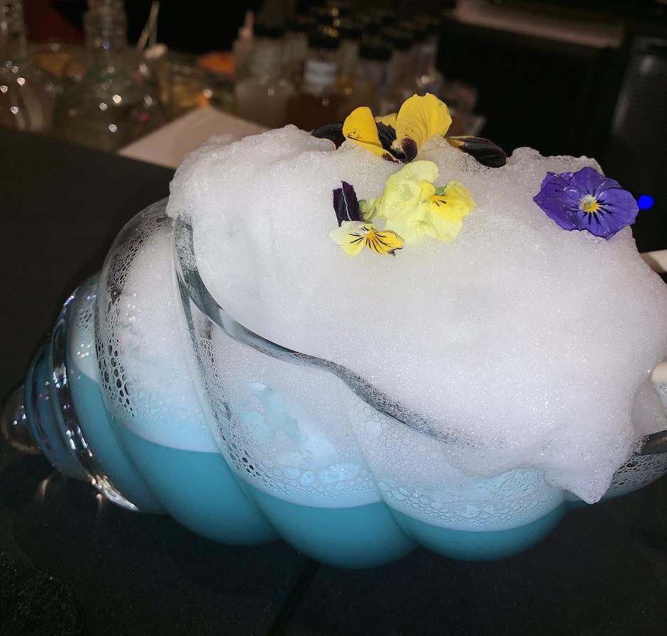 Serenata Cocktails Conch Shell Drink