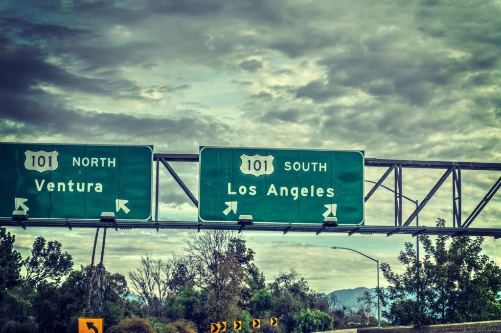 Los Angeles freeway sign