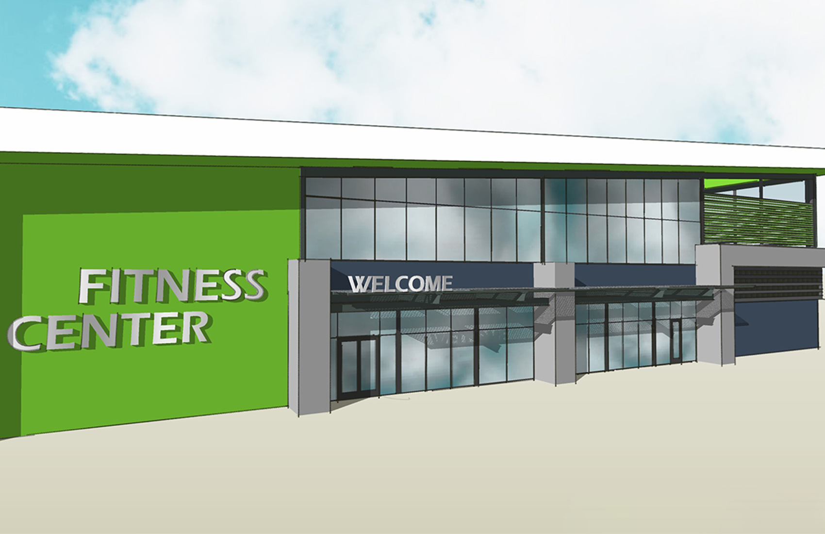 Cannon Beach Fitness Center Rendering