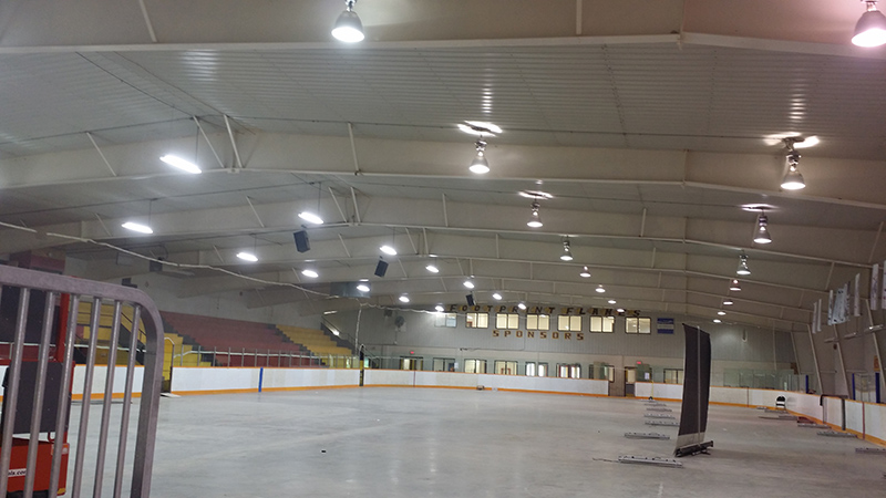 Ice rink (half of our light, half 400W Metal Halide) Nelson House Manitoba