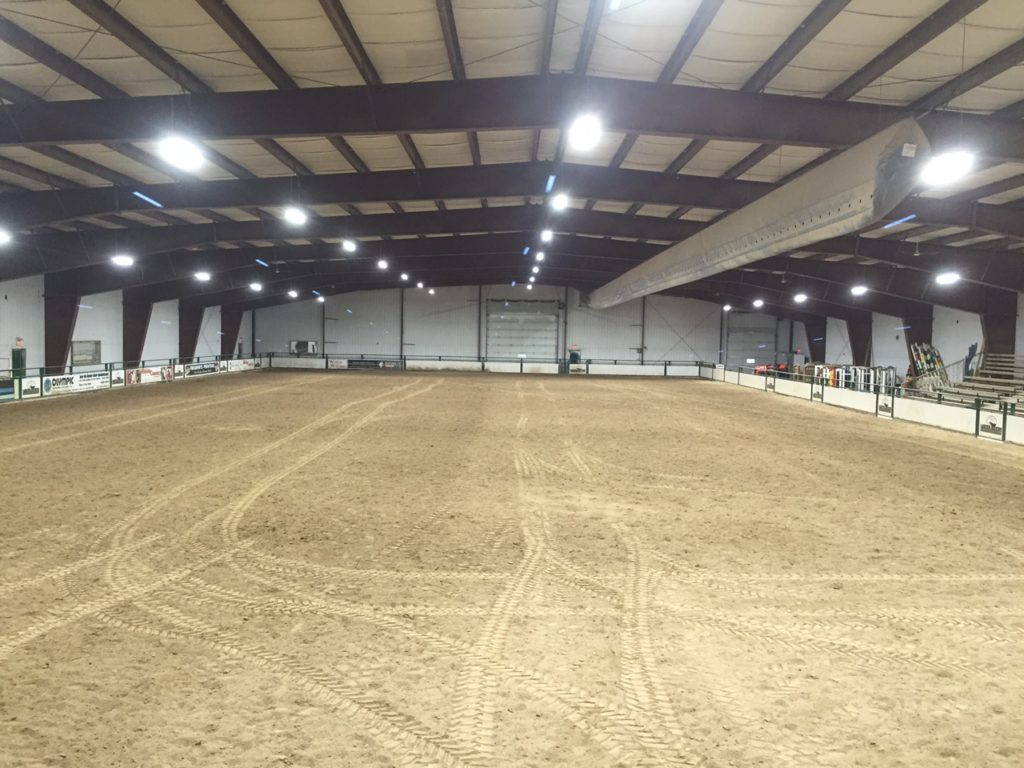 Horseback Riding Arena, Manitoba (after with Enduralite LED fixtures)