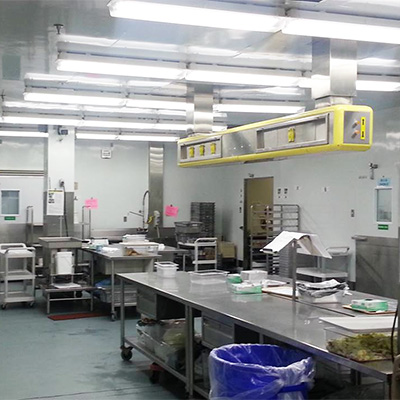 Cold rooms (sandwich prep rooms) Winnipeg Regional Health Authority Nutrition Plant