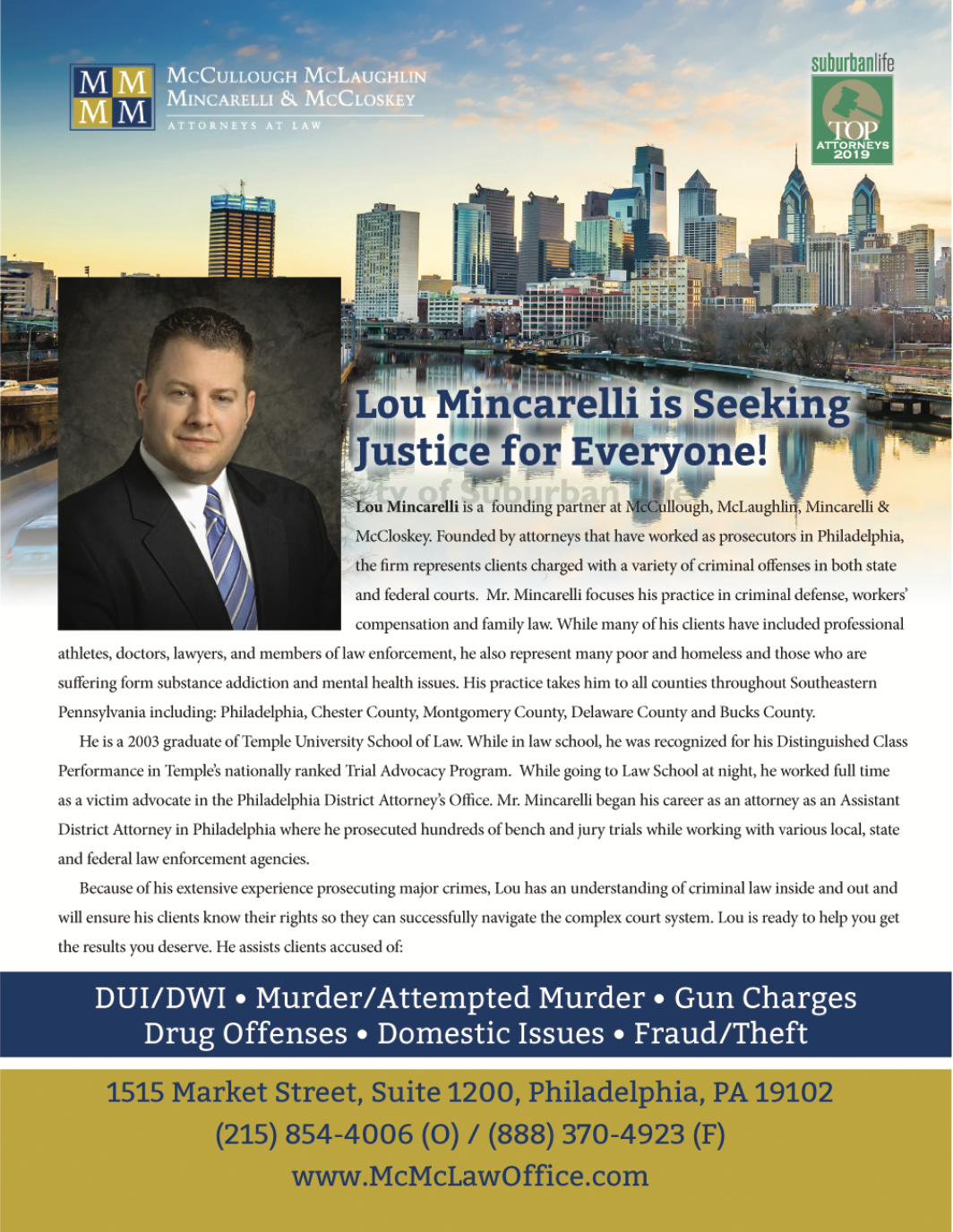 Partner Lou Mincarelli named as one of the Top Criminal Defense Attorneys