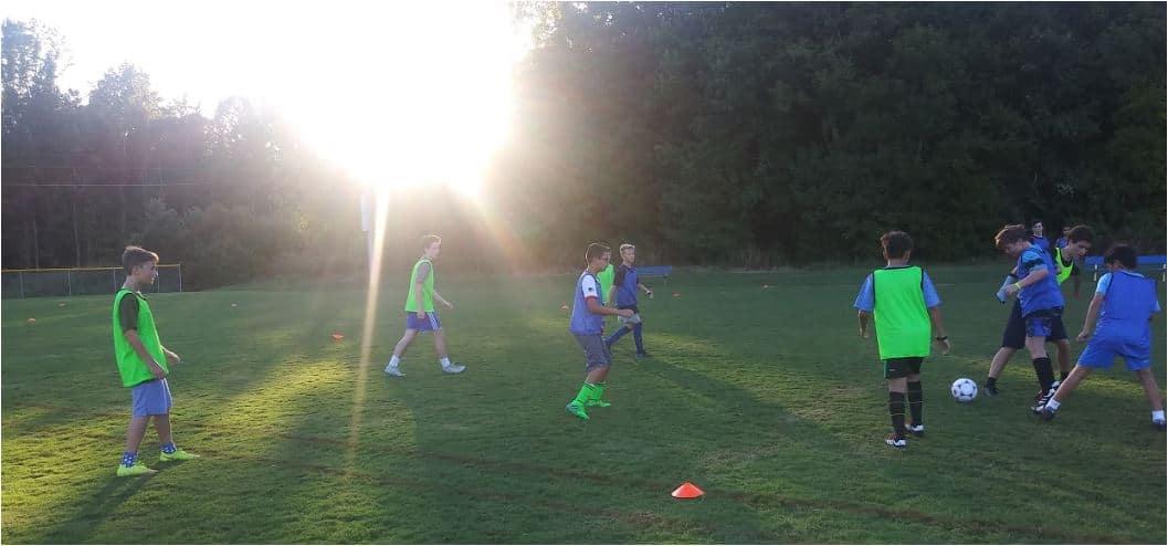 U14 HSM Team practing.