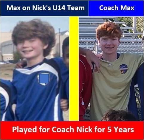 Coach Max coaches the U10 team.