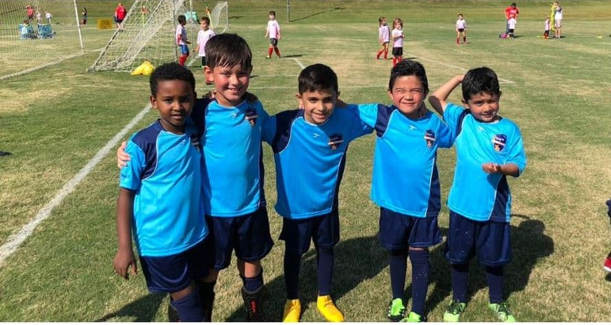 Hope Soccer Coed Team Ages 6 to 8.