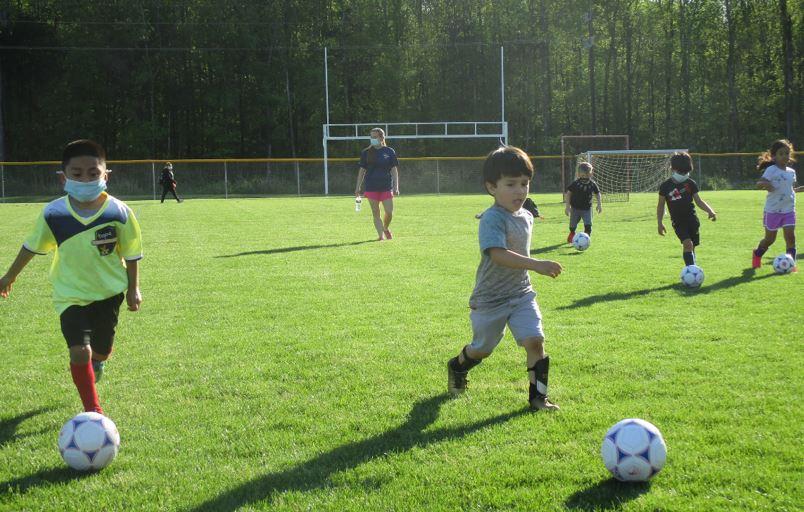 Soccer practice for kids in Charlotte