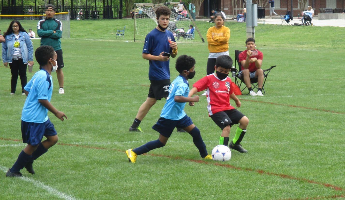 U8 Soccer game in Pineville