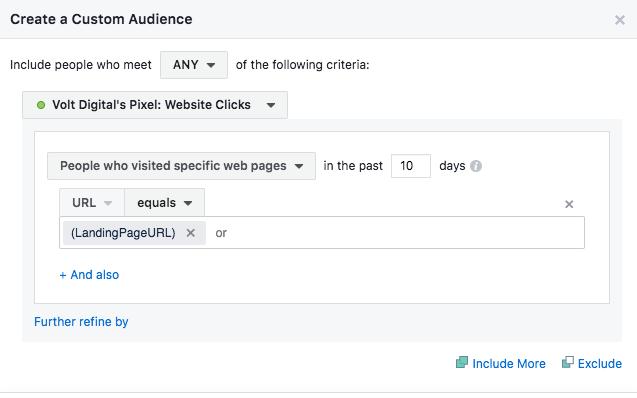 facebook targeting method