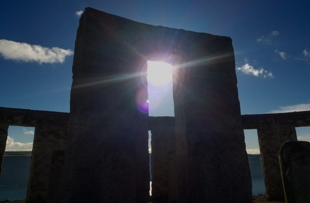 From inside Maryhill's Stonehenge