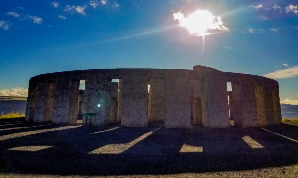 Maryhill's Stonehenge in the afternoon sun