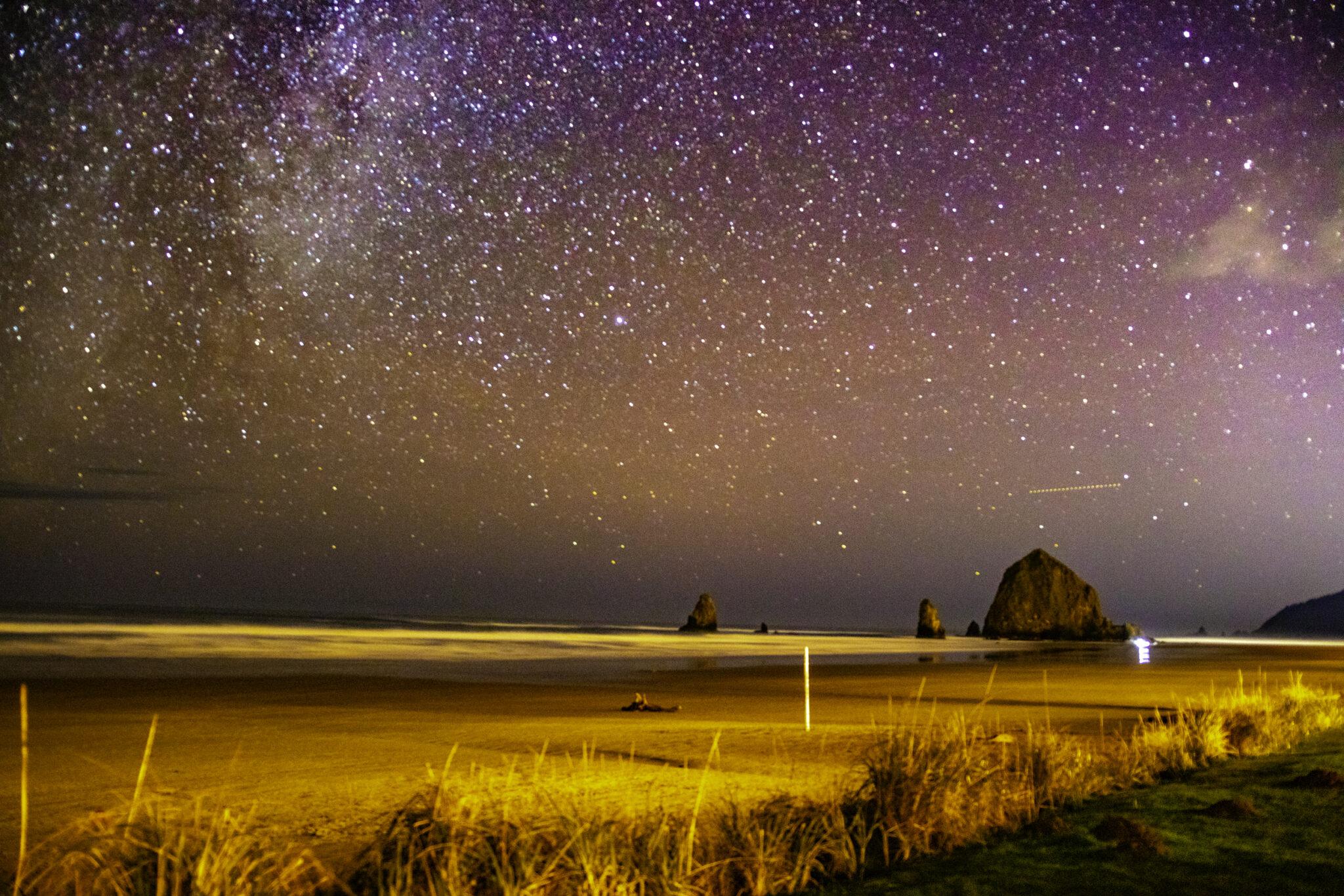 Milky Way at Haystack Rock