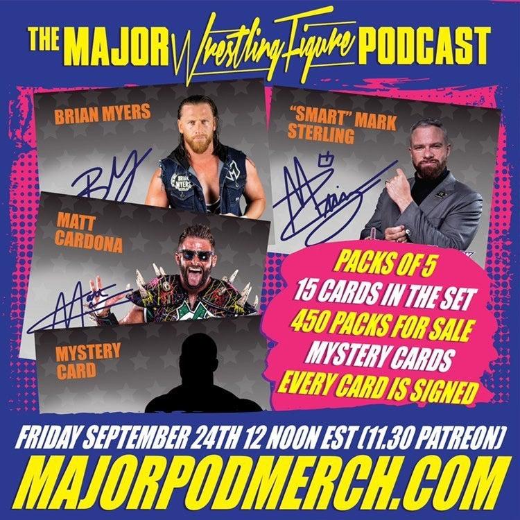 Major Wrestling Figure Podcast Autograph Series Flyer