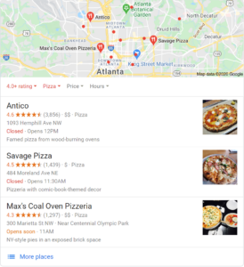 Customer reviews for better local search results