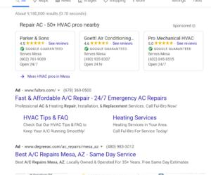 ppc advertising for HVAC companies